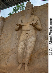 Statue of king Parakramabahu - Statue of probably king...