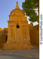 Absalom's Pillar, is an Ancient Monumental Rock-cut Tomb in...