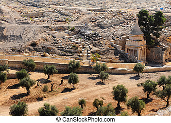Jewish Cemetery - Ancient Jewish Cemetery on the Olive...