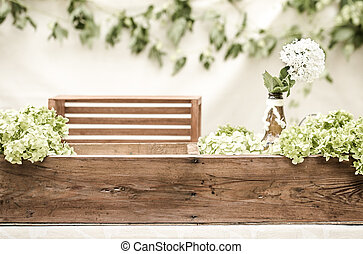 wedding decor with flowers