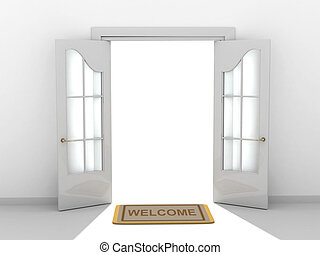 Welcome - Conceptual image - a way to success