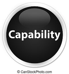 Capability premium black round button - Capability isolated...
