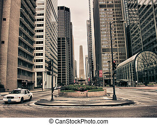 Chicago City Life, USA - Buildings of Chicago, Illinois, USA