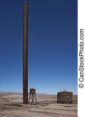 Derelict mining town in the Atacama - Derelict nitrate...