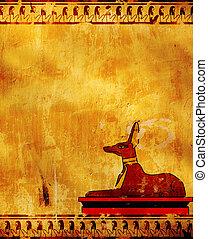 Anubis - Wall with Egyptian god Anubis image