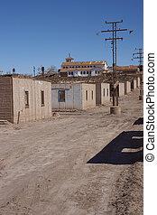 Derelict mining town in the Atacama Desert - Derelict...
