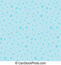 Seamless pattern with small waterdrops on blue background