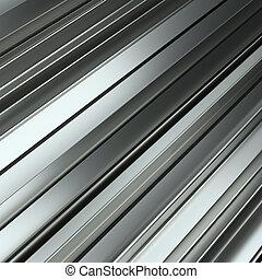 Rolled metal L-bar, close-up. 3D Illustration