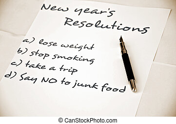 Say no to junk food - New year resolution say no to junk...