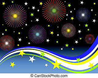 new years eve 2011 - vector illustration of a colorful...