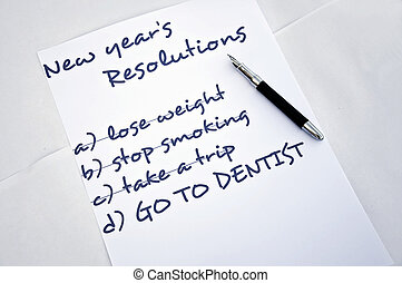 Go to dentist - New year resolution go to dentist