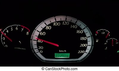 Car speedometer while driving