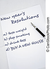 Buy a new house - New year resolution buy a new house