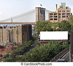 City Billboard Ad Space - A blank urban advertising...