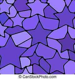 abstract vector stained-glass mosaic background - violet...