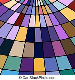abstract vector stained-glass mosaic background - violet and...