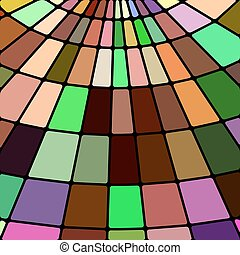 abstract vector stained-glass mosaic background - brown and...