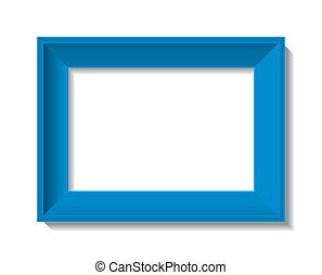 empty photo frame - vector illustration