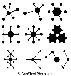 molecule icon set