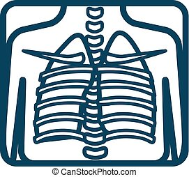 Human Lungs xray - Human lungs xray image. Vector...