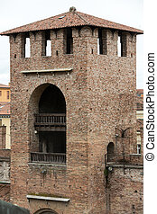 Tower of Castelvecchio fortress in Verona,  Italy