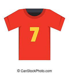Soccer shirt flat icon vector illustration for design and...