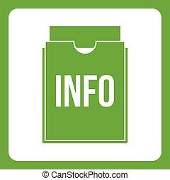 Info folder icon green