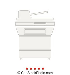 Multifunction printer or automatic copier it is icon . -...