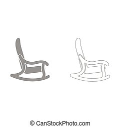 Rocking chair it is icon . - Rocking chair grey set it is...