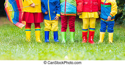 Kids in rain boots. Rubber boots for children. - Kids in...