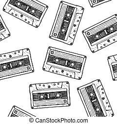 Pattern with audio cassette