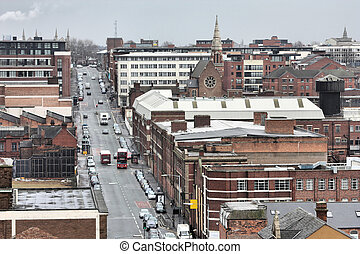 Birmingham in West Midlands, England Famous post-industrial...