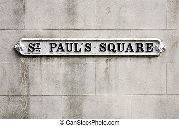 Birmingham - St Pauls Square sign West Midlands, England