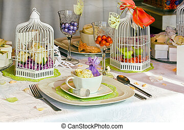 Table setting - Beautiful table setting for important family...