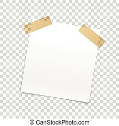 Blank paper frame isolated on transparent background