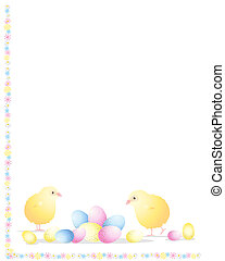 easter chick - an illustration of two easter chicks with...