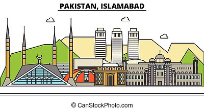 Pakistan, Islamabad. City skyline architecture, buildings,...