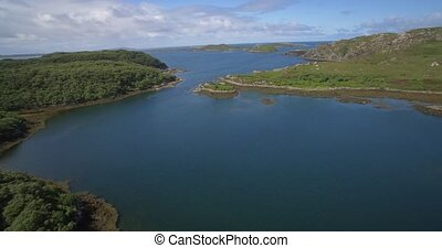 Aerial, Lots Of Scottish Lakes, West Scotland - Native...