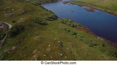 Aerial, Lots Of Scottish Lakes, West Scotland - Graded Version