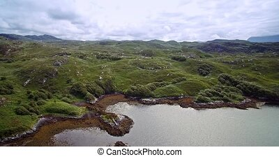 Aerial, Lots Of Scottish Lakes, West Scotland - Graded...