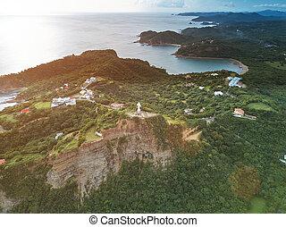 Ocean coastline in san juan del sur