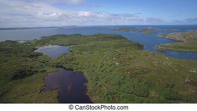 Aerial, Lots Of Scottish Lakes, West Scotland - Native Version
