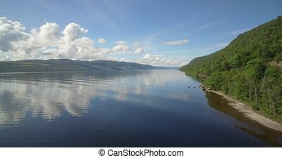 Aerial, The Mighty Loch Ness, Scotland - Native Version -...