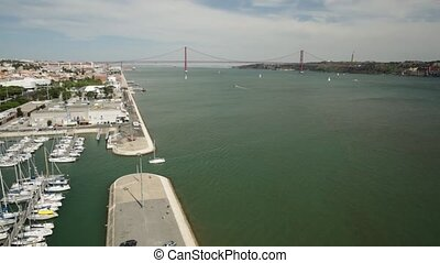 Belem District panorama - Panorama of Lisbon from...