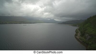 Aerial, Loch Kishorn, Scotland - Native Version - Native...