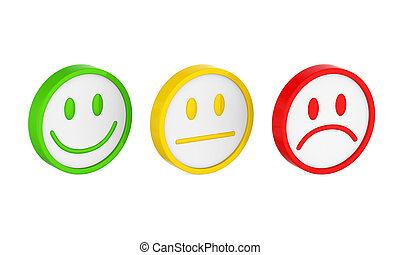 Smiley Faces Icons Isolated - Smiley Faces Icons isolated on...