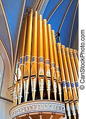 Cathedral organ pipes - Holy Rosary Cathedral organ pipes...