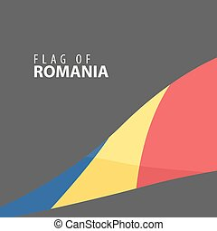 Flag of Romania against dark background - Designer decorated...