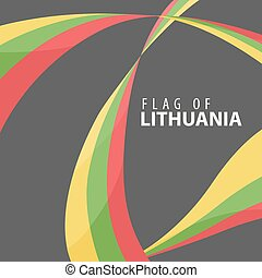 Flag of Lithuania against a dark background - Designed flag...