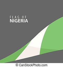 Flag of Nigeria against dark background - Designer decorated...